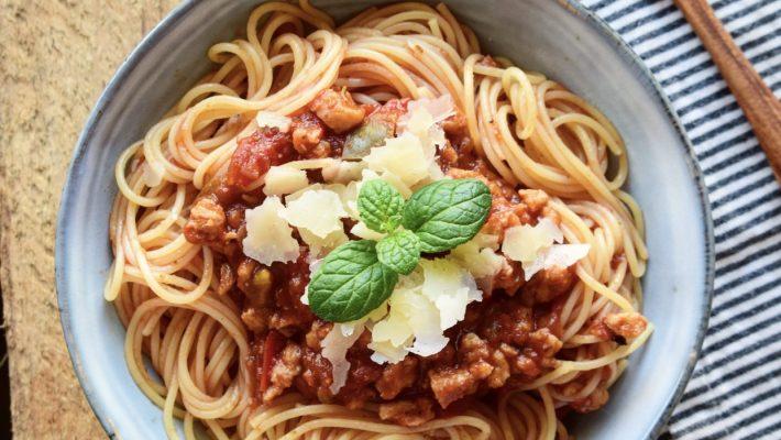 Spaghettis bolognaise végétale