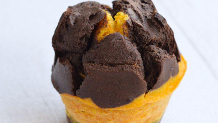 Muffins marbrés à la courge butternut & chocolat