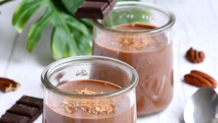 Recette vegan de crème mousseuse au chocolat