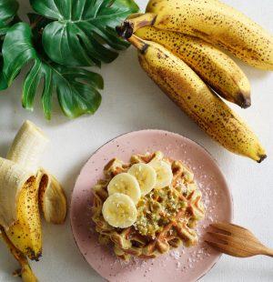 gaufres à la banane