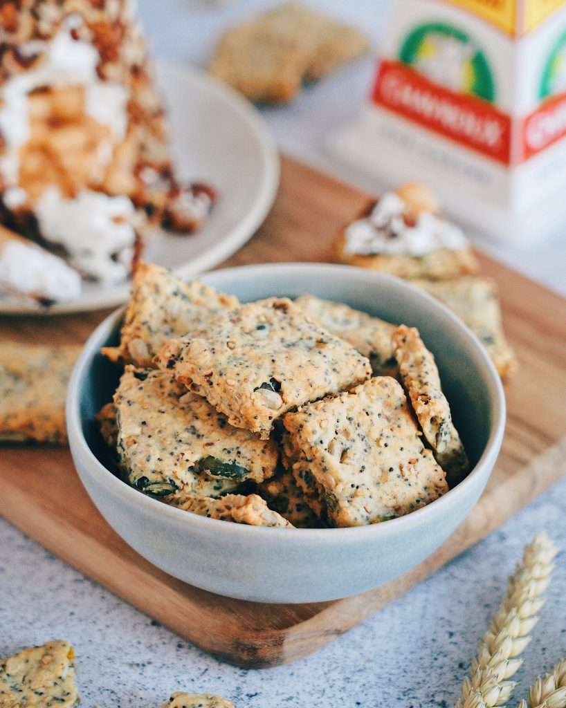 Crackers aux graines et au chèvre frais Chavroux