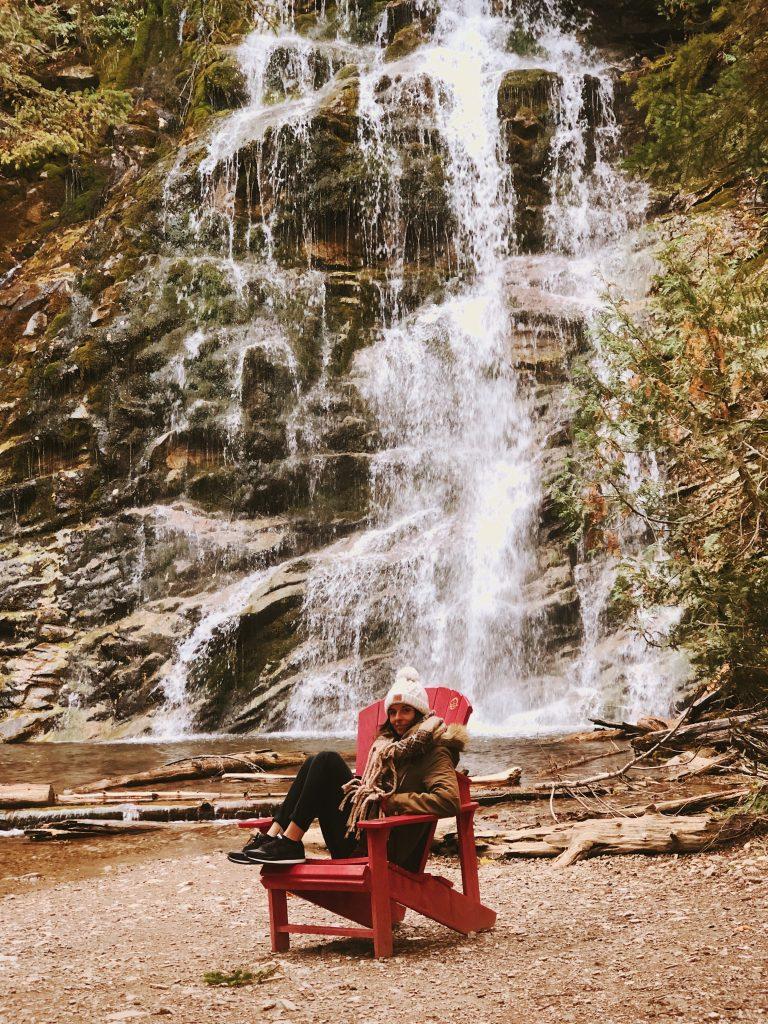 La chute : Parc de Forillon : Québec