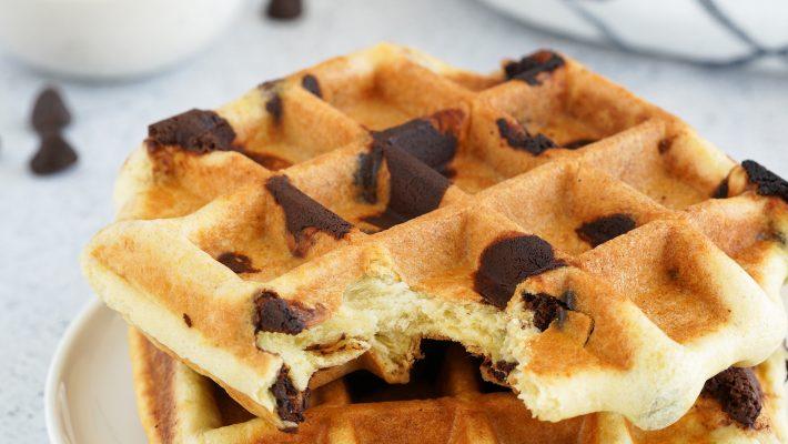 Gaufres briochées express aux pépites de chocolat