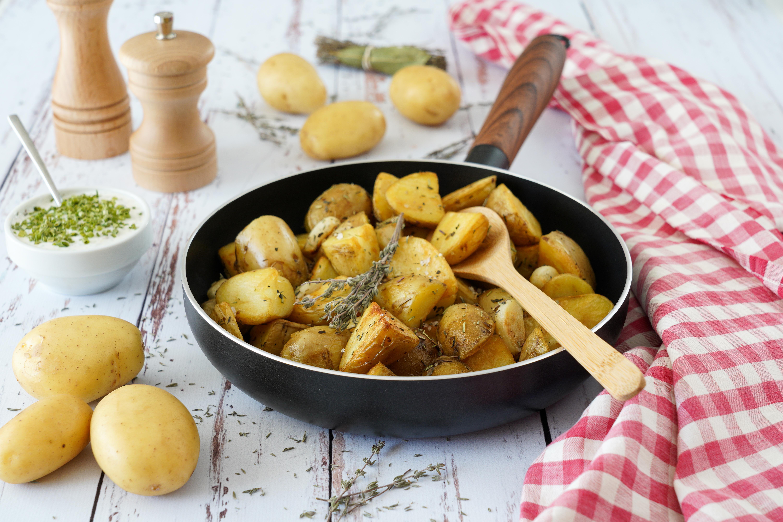 Poêlée de pomme de terre de primeur