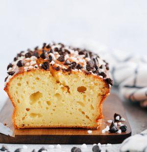 Gâteau aux pépites de chocolat & perles de sucre