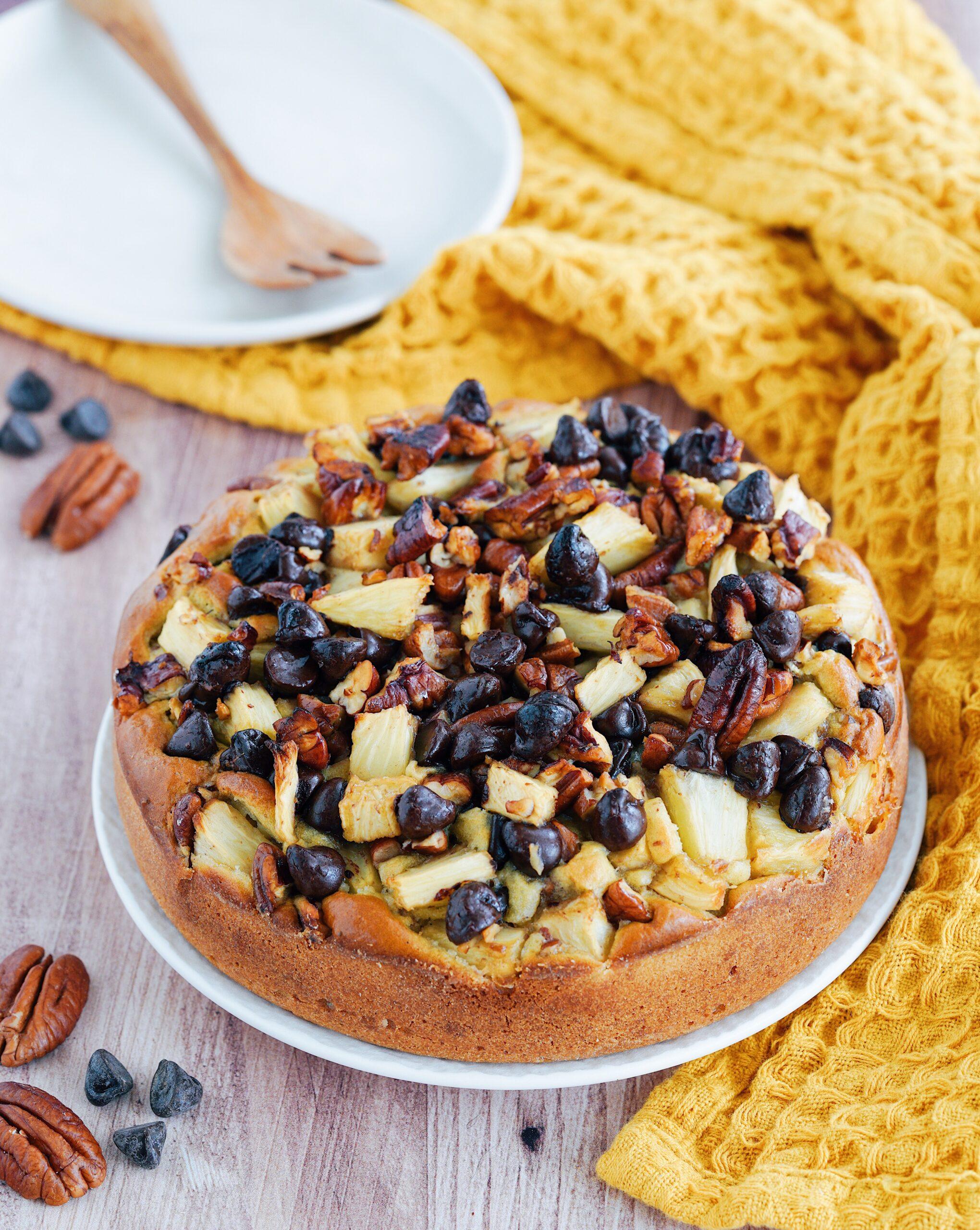 """Recette du """"Gâteau Ananas, Pécan & Chocolat"""""""