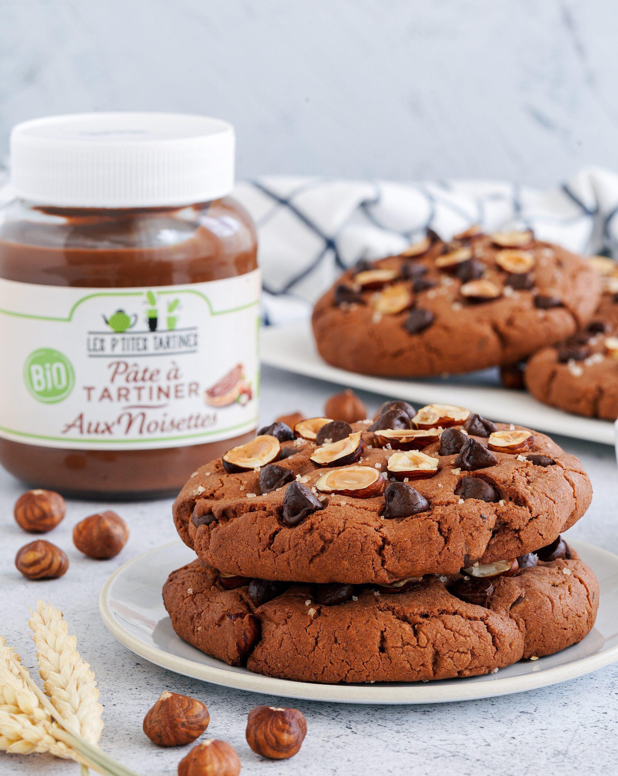 Recette Cookies : pâte à tartiner, noisette et fleur de sel : grand frais