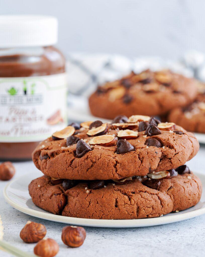 """Recette des """"Cookies pâte à tartiner, noisette et fleur de sel"""" : grand frais"""