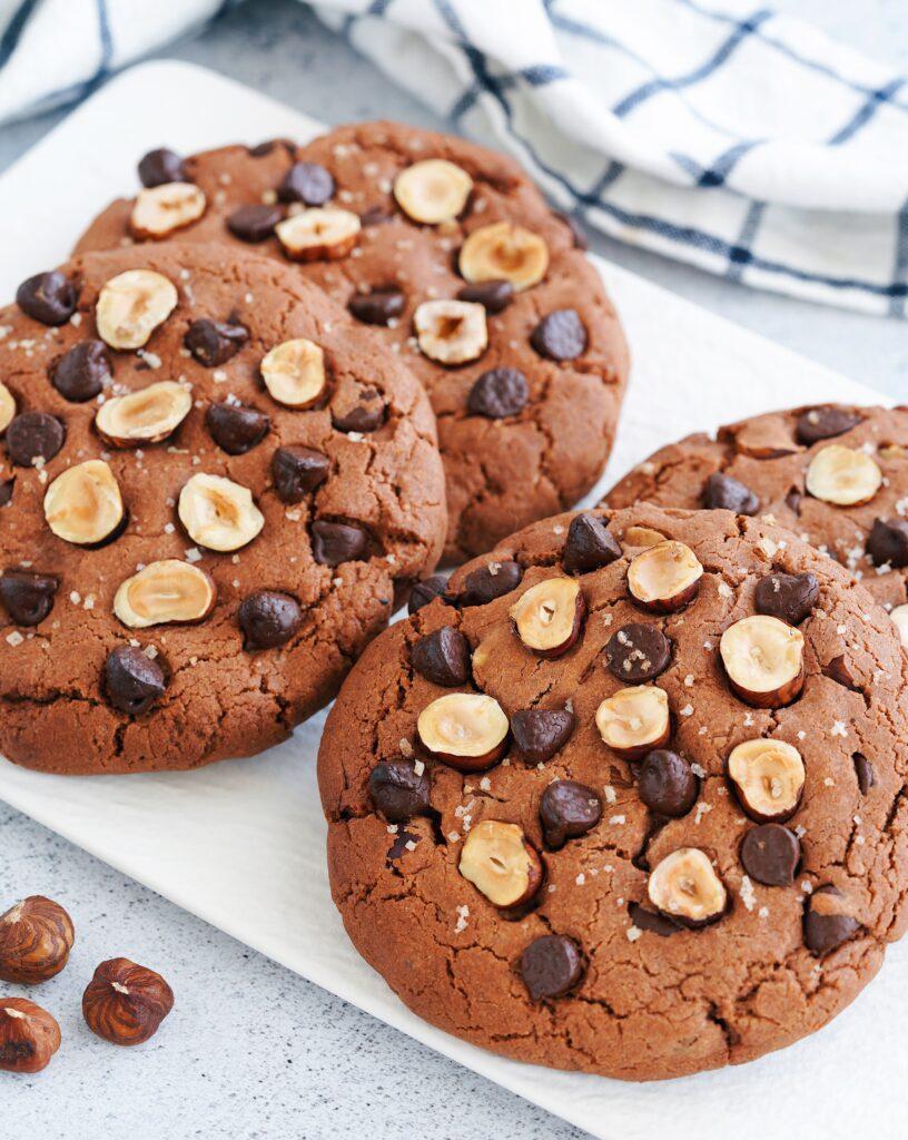 Cookies à la pâte à tartiner, aux noisettes et fleur de sel : grand frais